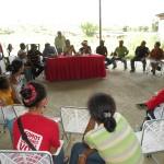 Mesa de Trabajo Alfareria Gamelotal, Sarare, Municipio Simon Planas 21-09-2011
